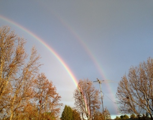 A double rainbow to greet the day :)